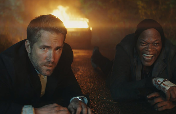 Ryan Reynolds and Samuel L Jackson in Hitmans bodyguard